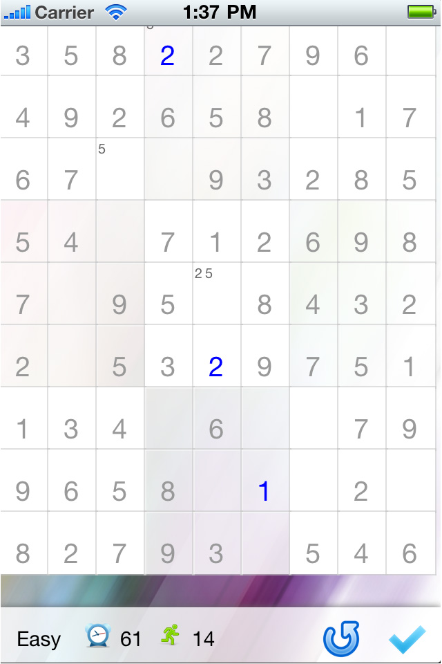 Screenshot i'm Sudoku